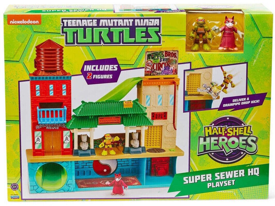 mejor reputación Teenage Mutant Ninja Turtles media concha Héroes súper súper súper alcantarillado sede Jugarset +2 figuras  mas preferencial