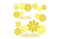 Fahrrad Aufkleber Electra Daisy Sticker Set, Rahmen Decor Aufkleber, Blumen