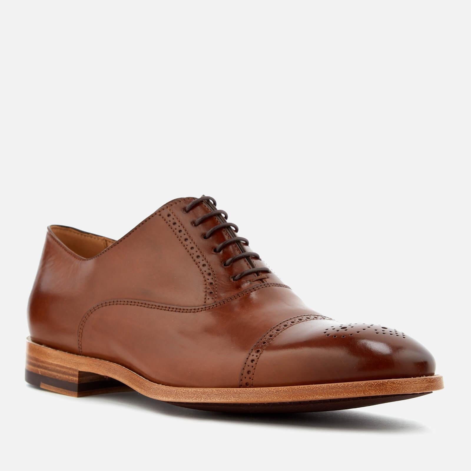 NW PAUL SMITH oxford scarpe Marronee BERTIN V016 BCA Leather Brogue Toe Oxford