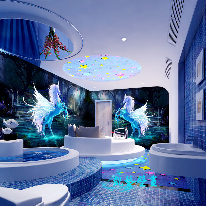 3D Pegasus beautiful  WallPaper Murals Wall Print Decal Wall Deco AJ WALLPAPER