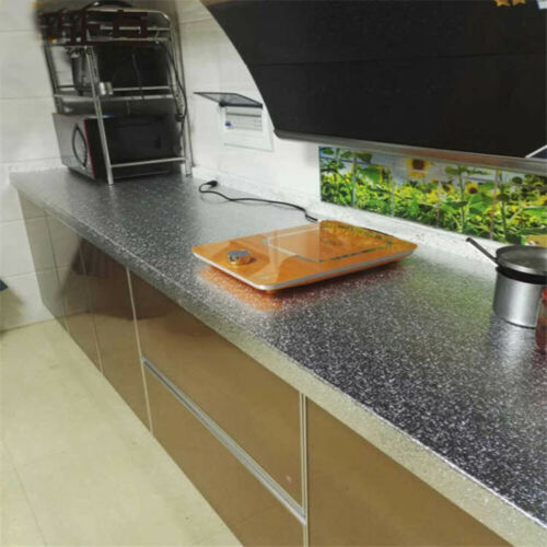 Kitchen Cabinet Wall Sticker Self Adhesive Waterproof Oil-proof Aluminum Foil 5M