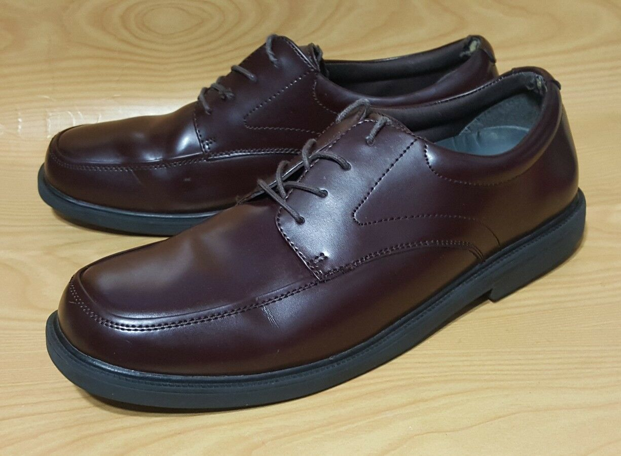 Nunn Bush Dynamic Comfort Slip Resistant Mens Oxford 12 W Brown Leather shoes