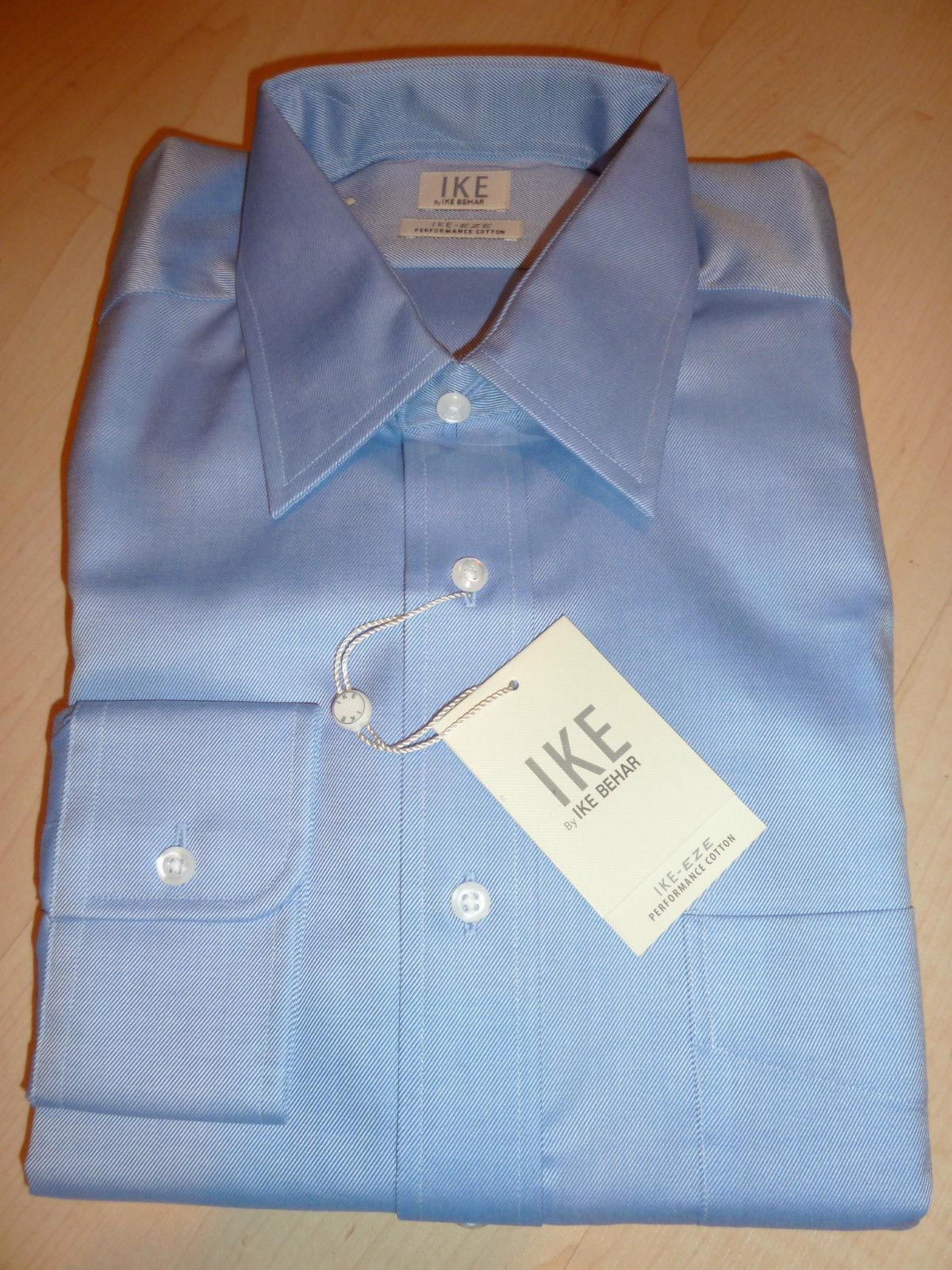 NEW  200 IKE BEHAR herren Dress hemd 15.5 33 Blau BC NWT EZE-Care Performance