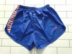 Herren-Vintage-Retro-blau-Sprinter-oldschool-High-Cut-Shorts-Groesse-L-XL-120