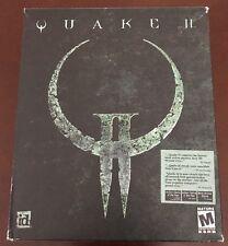 1997 QUAKE II (2) PC Game BIG BOX Complete - W/ Manual & Strategy Guide