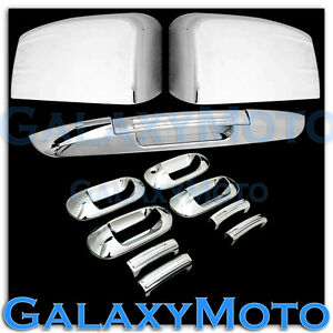 03-06-Ford-Expedition-Chrome-Mirror-4-Door-Handle-Lower-Tailgate-Liftgate-Cover