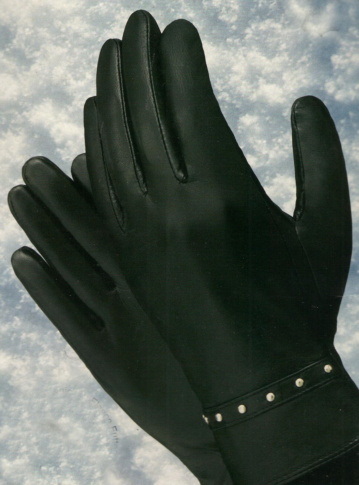 Lammnappa Lederhandschuhe Nieten Gr.8 boccaccio fein fein fein Leder warmes Fleecefutter | Angemessene Lieferung und pünktliche Lieferung  | Zahlreiche In Vielfalt  | Ausgezeichnete Leistung  9a5014
