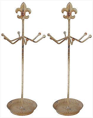 Antique Finish 6 Hooks Necklace Holder Jewelry Organizer Display Stand Set Of 2 Ebay