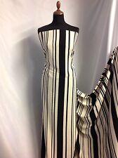 "NEW Crepe De Chine Powder Touch Multi Stripe FABRIC 58""148cm Dress Cloth Fashion"
