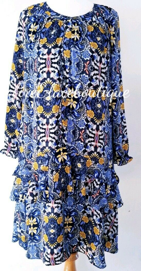 ANN TAYLOR LOFT WILDFLOWER DREAMS SHIFT DRESS SZ M 8 10