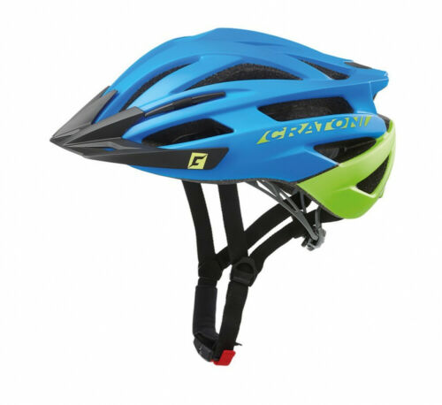 Cratoni Fahrrad Helm Fahrradhelm Agravic MTB Gr L//XL 58-62cm blau lime matt