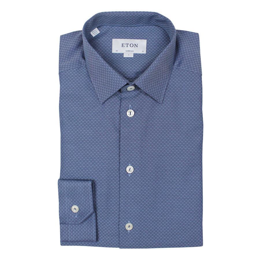 Eton Super Slim Fit Camicia Colletto 16.5   NUOVO CON ETICHETTE  RRP