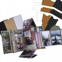 Heartfelt Creations 7 X 9 Interactive Flip Fold Album St Kit 7 Pcs In Kraft