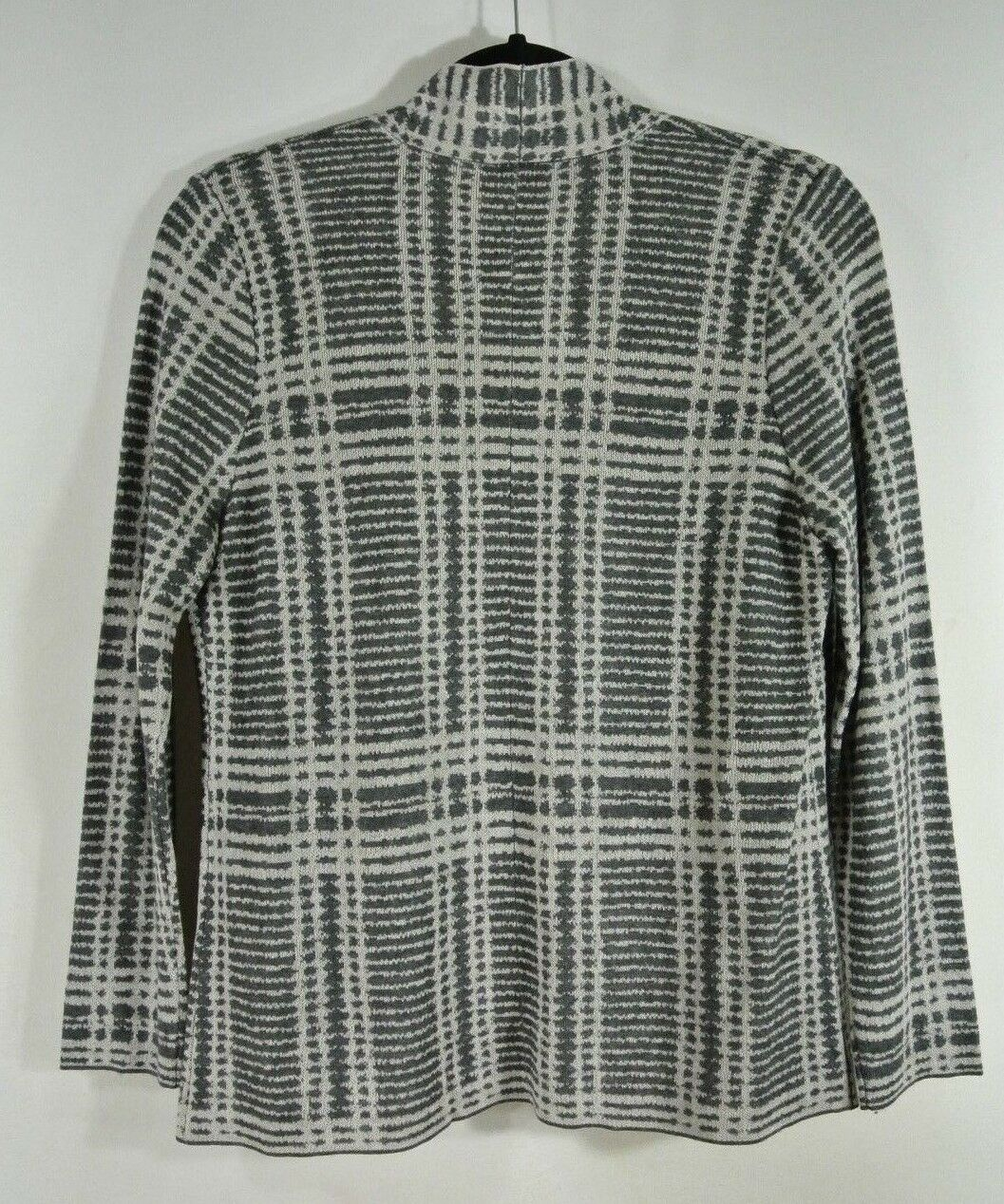 NEW Eileen Fisher Sleek Printed Tencel & Merino Shaped Cardigan, Cardigan, Cardigan, Charcoal - XL ca4c1c