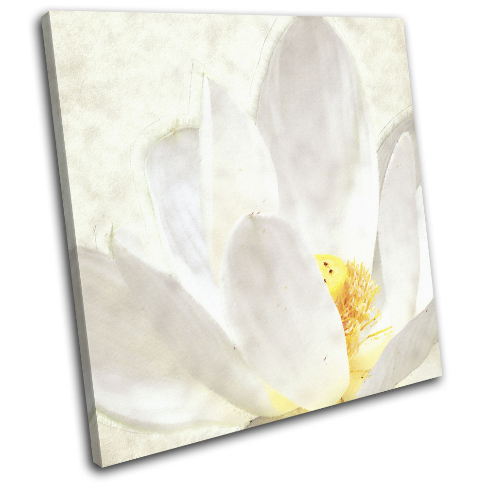 Lotus flower painted  Floral SINGLE TOILE murale ART Photo Print