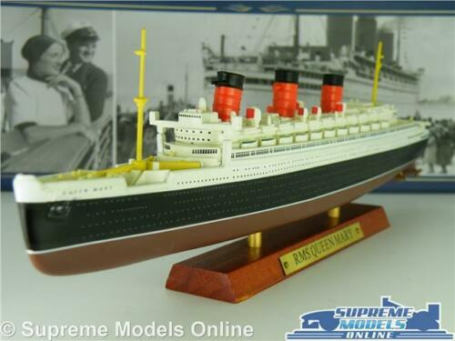 RMS QUEEN MARY MODEL BOAT 1:1250 SCALE IXO ATLAS TRANSATLANTIC LINERS SHIP K8