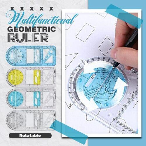 Multifunction Drawing Ruler Mathematics Geometric Measuring Drafting Teaching | eBay