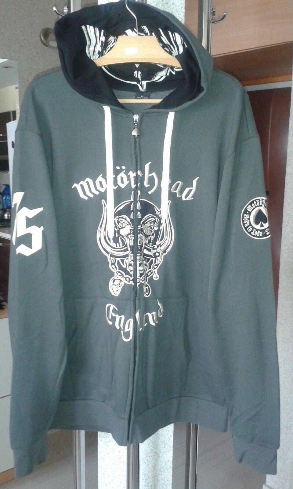 Motorhead Motörhead Lemmy zip hoodie XL Ace of Spades like NEW embroideROT patch