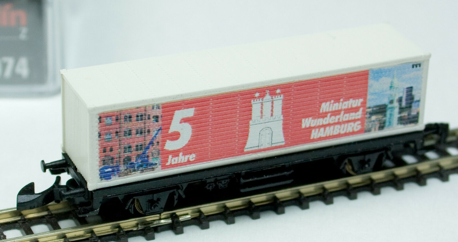 Container Car Miniatur Wunderland  6  5 Year Anniversary 2006 by Marklin Z 98074