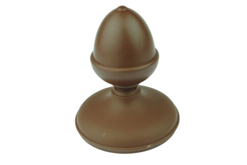 """4/"""" 100mm ROUND Caps UK Made GT0002 Linic 2 x Dark Brown Acorn Fence Top Finial"""