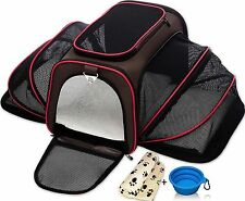 Petyella Expandable Pet Carrier for Small Dogs and Cats - Soft Sided Crate Air..