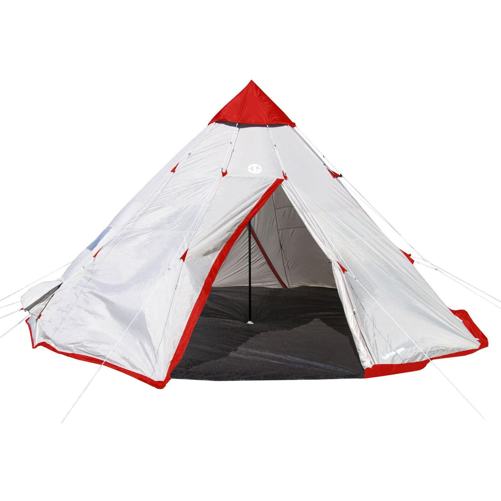 Tahoe Gear negrohorn 4 acampar al aire libre 10 ft (approx. 3.05 m) 4 persona Carpa Estilo Cono Durmiente