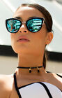 NEW QUAY My Girl Black/Blue Mirror Sunglasses