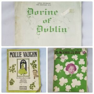Vintage Sheet Music Irish Traditional Songs Lot of 3 1910s 20s 30s