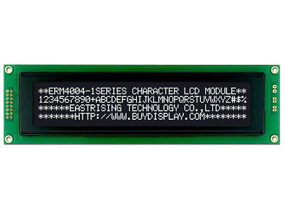 3.3V Black 40x4 Character LCD Module Display w//Tutorial,HD44780,Bezel,Backlight