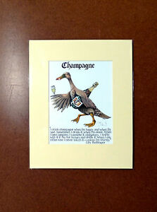 Simon-Drew-Champagne-Print-Mounted-Lily-Bollinger-Quote-Signed-Drinking-Art