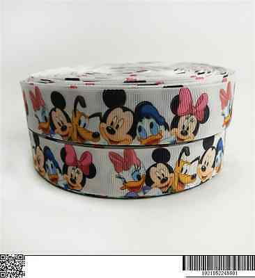 "Mickey et minnie mouse ruban large 1/"" neuf uk vendeur"