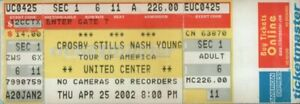 CROSBY-STILLS-NASH-amp-YOUNG-2002-TOUR-UNUSED-CHICAGO-CONCERT-TICKET-NM-2-MINT
