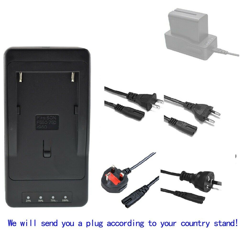 Battery Charger for Sony NP-F330 NP-F960 NP-F970 NP-F975 NP-F990 LED Video Light