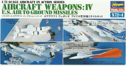U.S #X7204 Hasegawa AIR TO GROUND MISSILES Maverick, HARM, Pie-grièche, Bullpup...
