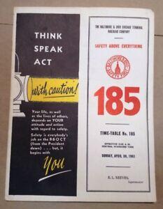 Baltimore-and-Ohio-Railroad-Time-Table-No-185-April-1961-INV-P0233