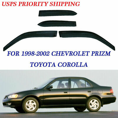 4pc Vent Visor Window Sun Rain Guard Wind Deflector for Toyota Corolla 1998-2002