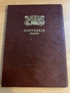 CB1456-Australia-1911-1964-Penny-Collection-complete-ex-1930-in-Dansco