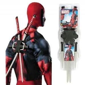 Marvel Licencia Kit De 5 Piezas Arma Disfraz Deadpool Accesorios
