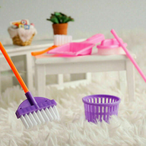 1SET 9pcs Mini Doll Accessories Household Cleaning For Dollhouse Tools CL B9W9