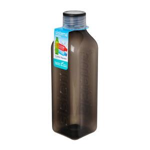 Sistema-HYDRATE-1-L-carre-verre-bouteille-eau-noire-jus-Travail-Voyage-Ecole