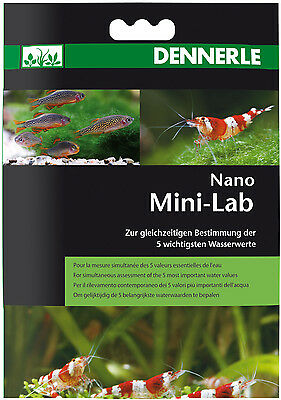 Dennerle Nano Mini-Lab 5in1 Water Test Strips pH NO2 NO3 GH KH