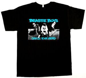Official Beastie Boys T Shirt Black Check Your Head Mens Rap Metal Punk Rock New