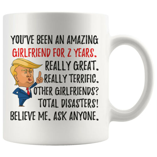 Second Anniversary Gifts For Her Funny 2nd Anniversary Girlfriend Trump Mug