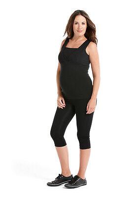 Aufrichtig Cropped Maternity Leggings - Uk16 To 18 - Black Over Bump Maternity Leggings Gesundheit FöRdern Und Krankheiten Heilen