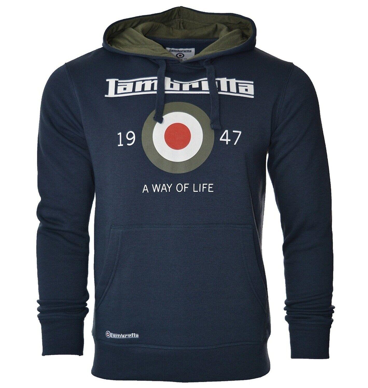 LAMBRETTA mens long sleeve hoodie hooded top sweatshirt casual casual casual jumper uk NAVY   Qualifizierte Herstellung  992de7