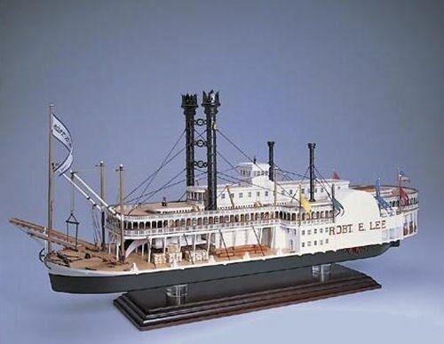 Amati Robert E Lee Paddle Steamer Wooden Kit FREE NEXT DAY Delivery