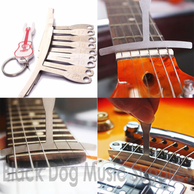 Guitar Fretboard Fingerboard Radius Gauge Set Of 9 Bridge Pin Puller