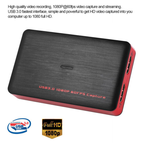 HDMI to USB 3.0 Video Capture Card Adapter 1080P HD Recorder Box For Mac Windows