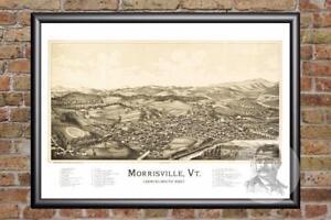 Vintage-Morrisville-VT-Map-1889-Historic-Vermont-Art-Old-Victorian-Industrial