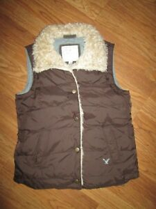 Womens-AMERICAN-EAGLE-Down-insulated-puffy-vest-jacket-S-Sm